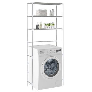 3-szintes ezüstszínű alumínium tárolóállvány 69 x 28 x 169 cm - utánvéttel vagy ingyenes szállítással
