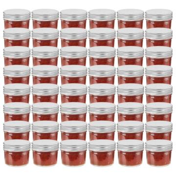 48 db 110 ml-es befőttesüveg ezüstszínű tetővel - utánvéttel vagy ingyenes szállítással