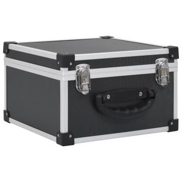 40 db-os fekete alumínium és ABS CD-tartó - utánvéttel vagy ingyenes szállítással