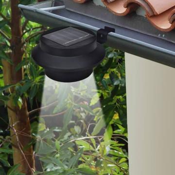 12 darab fekete kültéri napelemes LED kerítéslámpa - utánvéttel vagy ingyenes szállítással