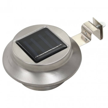 12 db fehér kerek kültéri napelemes LED lámpa 12 cm - utánvéttel vagy ingyenes szállítással