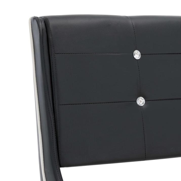 Fekete műbőr ágykeret 120 x 200 cm - ingyenes szállítás