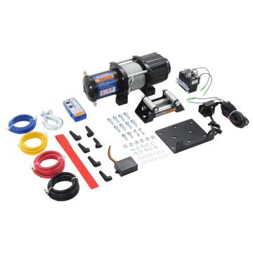 Elektromos csörlő távirányítóval 12 V 2040 kg - utánvéttel vagy ingyenes szállítással
