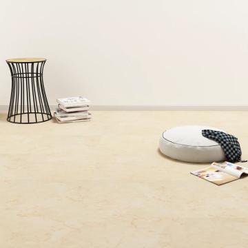 Bézs öntapadó PVC padló burkolólap 5,11 m² - utánvéttel vagy ingyenes szállítással