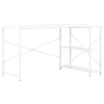 Fehér számítógépasztal 120 x 72 x 70 cm - utánvéttel vagy ingyenes szállítással