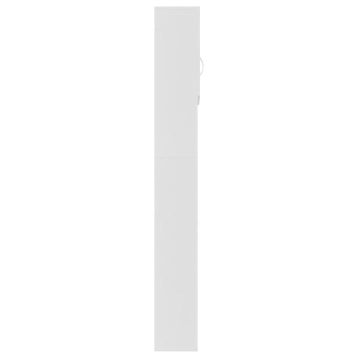 Fehér forgácslap mosógépszekrény 64 x 25,5 x 190 cm - ingyenes szállítás