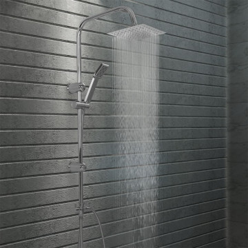 Rozsdamentes acél dupla fejű zuhanyszett kézi zuhannyal - ingyenes szállítás