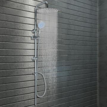 Rozsdamentes acél dupla fejű zuhanyszett kézi zuhannyal - utánvéttel vagy ingyenes szállítással