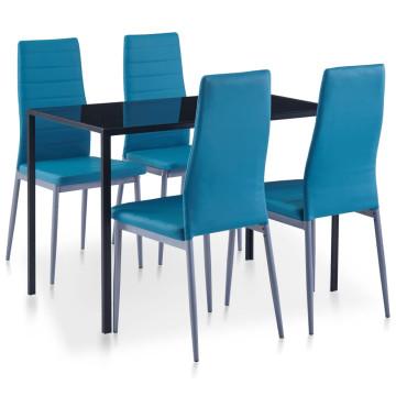 5 darabos kék étkezőszett - ingyenes szállítás
