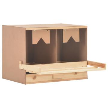 2 rekeszes tömör fenyőfa tojófészek 63 x 40 x 45 cm - utánvéttel vagy ingyenes szállítással