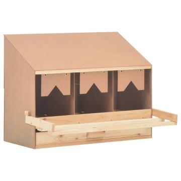 3 rekeszes tömör fenyőfa tojófészek 72 x 33 x 54 cm - utánvéttel vagy ingyenes szállítással