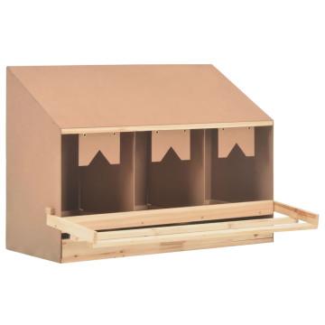3 rekeszes tömör fenyőfa tojófészek 93 x 40 x 65 cm - utánvéttel vagy ingyenes szállítással