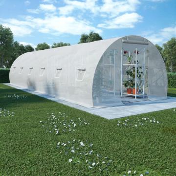 Acélalapzatú melegház 27 m² 900 x 300 x 200 cm - utánvéttel vagy ingyenes szállítással