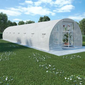 Acélalapzatú melegház 36 m² 1200 x 300 x 200 cm - utánvéttel vagy ingyenes szállítással
