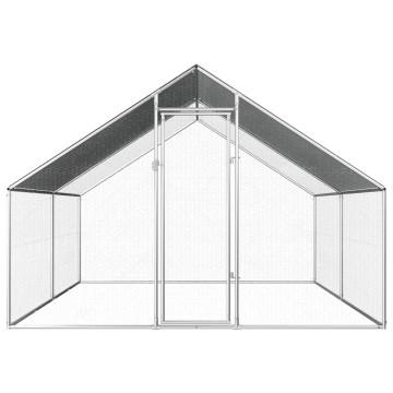 Kültéri horganyzott acél tyúkól 2,75 x 4 x 2 m - utánvéttel vagy ingyenes szállítással