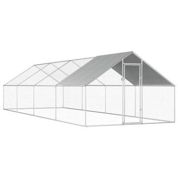 Kültéri horganyzott acél tyúkól 2,75 x 8 x 2 m - utánvéttel vagy ingyenes szállítással