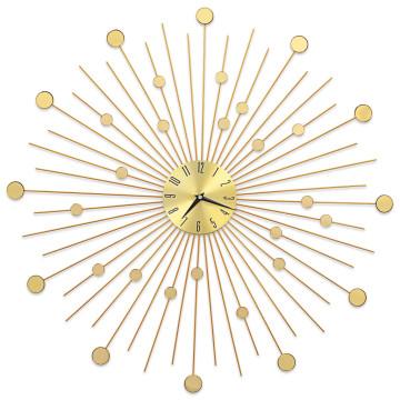 Aranyszínű fém falióra 70 cm - ingyenes szállítás