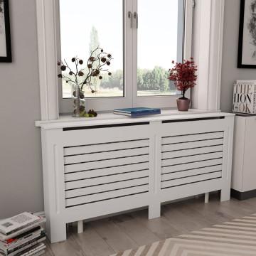 Fehér MDF radiátorburkolat 172 x 19 x 81,5 cm - utánvéttel vagy ingyenes szállítással