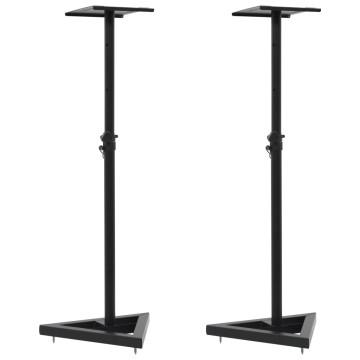 2 darab fekete acél stúdió monitorhangfal állvány - ingyenes szállítás