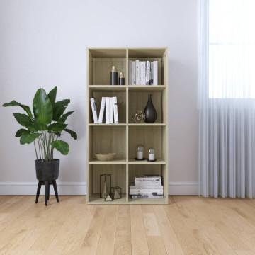 Sonomatölgy-színű forgácslap könyv-/tálalószekrény 66x30x130 cm - ingyenes szállítás