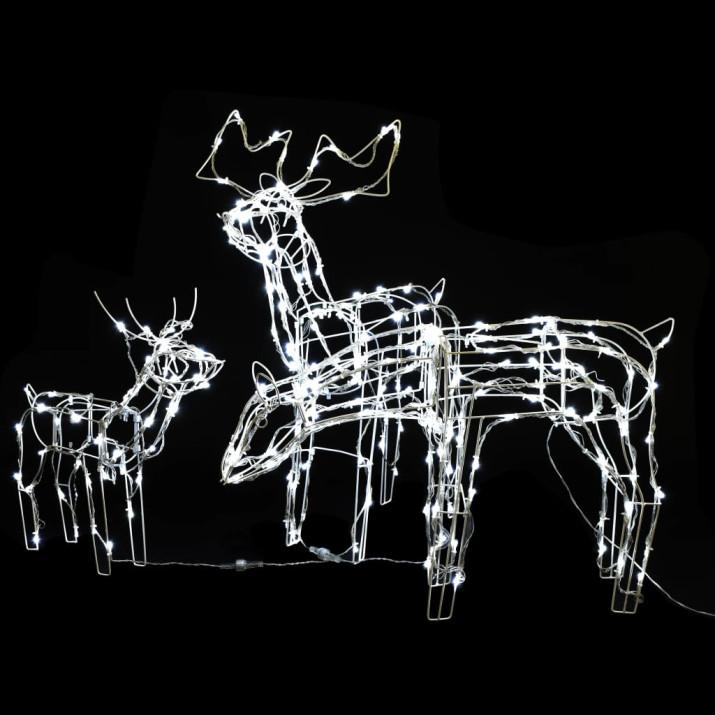 3 db 229 LED-es rénszarvas alakú karácsonyi díszvilágítás - ingyenes szállítás
