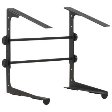 Fekete acél laptopállvány 30,5 x 28 x (24,5 - 37,5) cm - utánvéttel vagy ingyenes szállítással
