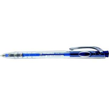 "Golyóstoll, 0,38 mm, nyomógombos, STABILO ""Liner 308"", kék"