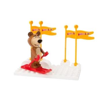 Mása és a Medve - Misa síel PlayBIG BLOXX építőkészlet
