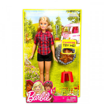 Barbie baba - Barbie a tábortűznél