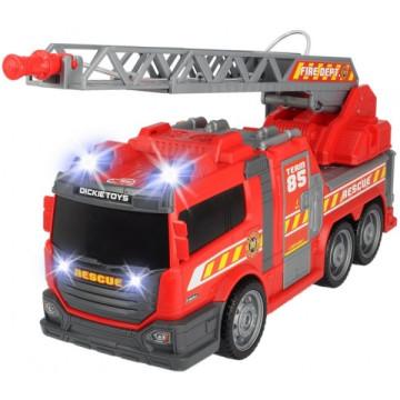 Dickie Létrás tűzoltóautó fénnyel, hanggal és vízágyúval