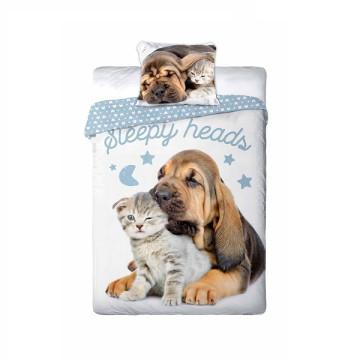 Best Friends kutyás- cicás ágyneműhuzat szett - Sleepy heads