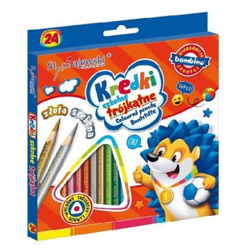 Bambino 24 db-os háromszög színes ceruza készlet