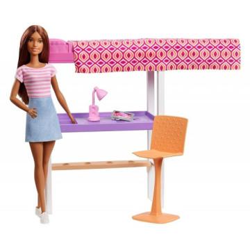 Barbie baba szobával játékszett - hálószoba