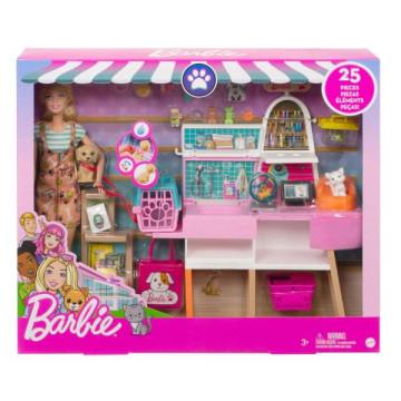 Barbie baba játékszett - Kisállat bolt kiegészítőkkel