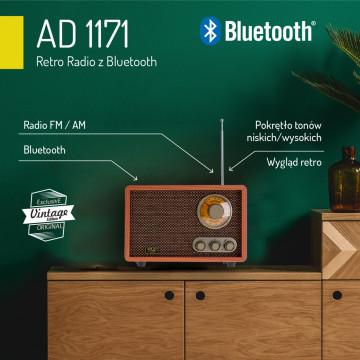 Adler AD1171 Bluetooth-os Retro Rádió