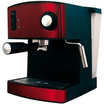 ADLER AD4404R Kávéfőző, 15 Bar, 850W, Bordó