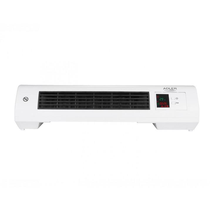 Adler fali hőfüggöny LCD kijelzővel, fűtés és hűtés, időzítő, távirányító, 2000 W teljesítmény, túlmelegedés elleni védelem