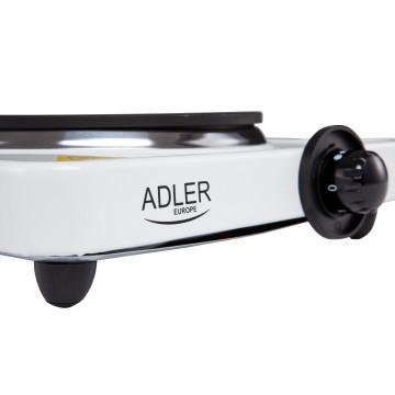 Adler AD6503 1 személyes főzőlap, 185mm-es főző felület, 1500W, Fehér