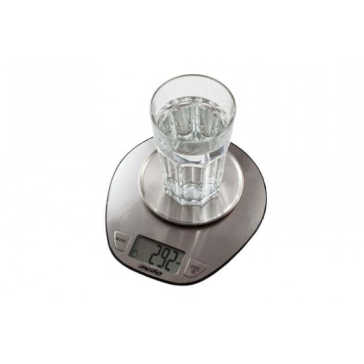 MESKO MS3152 Digitális Tálas Konyhamérleg, 5kg, Inox