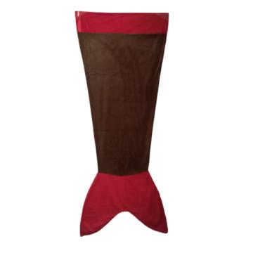 Sellő farkú takaró barna-piros