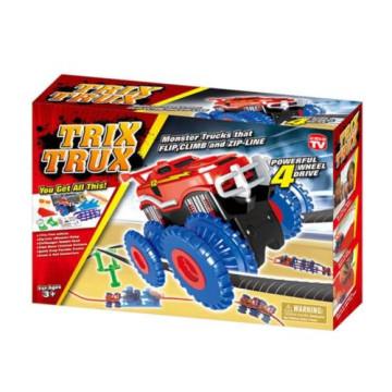 Merystyle@Trix Trux Monster Trucks trükkös autópálya két autóval