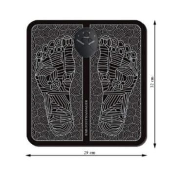Elektromos lábmasszírozó szőnyeg, kör mintás