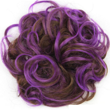 Hajgumis póthaj konty, lila-barna - Q5