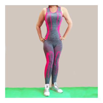 Merystyle@Jóga Fitness Wear karcsúsító sportruházat - pink-szürke