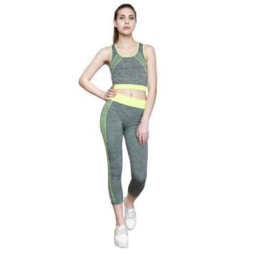 Merystyle@Jóga Fitness Wear karcsúsító sportruházat - zöld-szürke