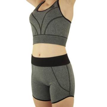Merystyle@Jóga Fitness Wear karcsúsító  rövid sportruházat - szürke