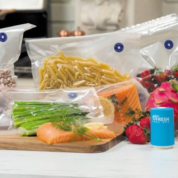 Fresh Seal Vac antibakteriális élelmiszer tároló tasak vákumpumpával