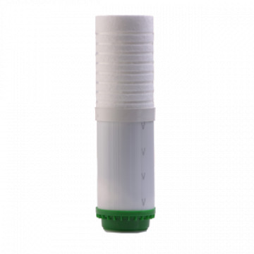 10 colos kombinált (granulált aktívszén és polipropilén) szűrőbetét asztali vízszűrőkbe