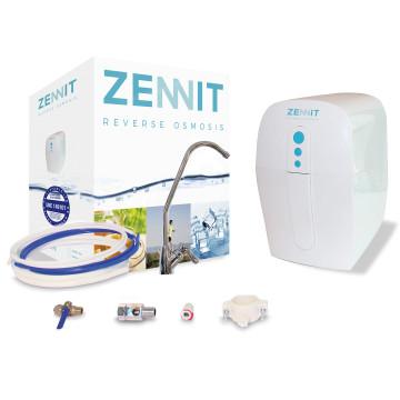 Puricom Zennit tartályos 3 lépcsős, fordított ozmózis víztisztító készülék csomag speciális 3 az 1-ben előszűrővel