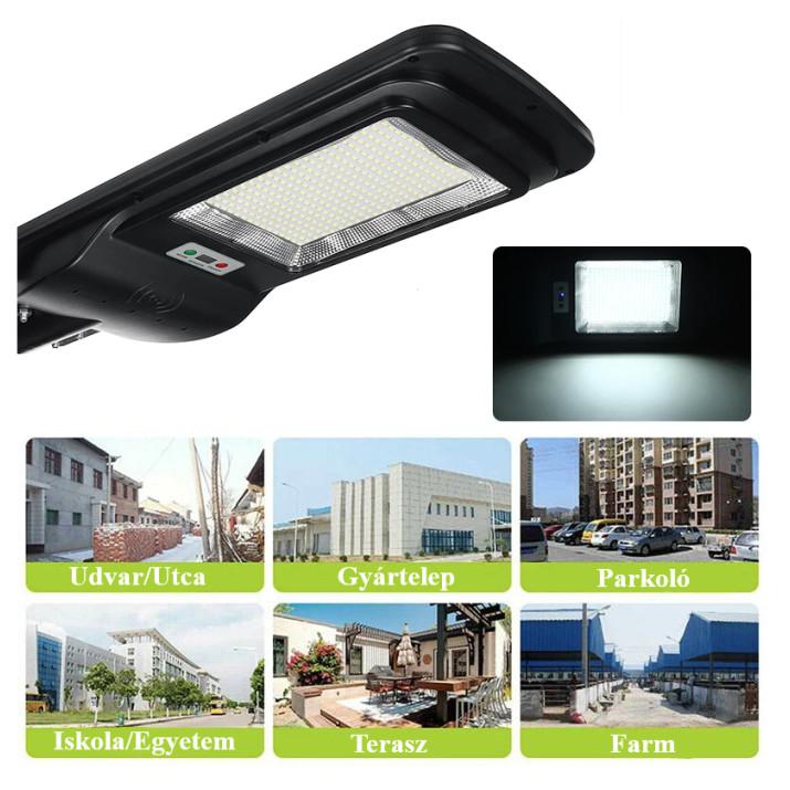 Új Generációs, Intelligens 280 Wattos Utcai Solar LED Lámpa Távirányítóval